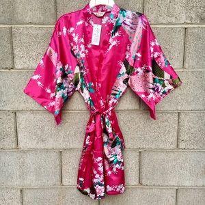 Other - JAPANESE KIMONO LINGERIE GEISHA FLORAL ROBE NEW